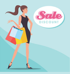 Sale discount shopping vector