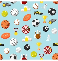 Seamless sports pattern background vector image