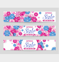 seasonal spring sale promotion banner vector image