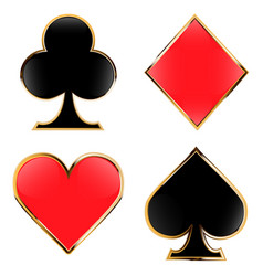 Set playing cards suits four cards vector