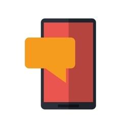 smartphone sms talking bubble speak vector image
