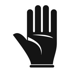 Survival glove icon simple style vector