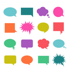 Talk color bubble vector