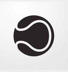Tennis ball icon vector