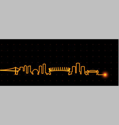 Vancouver light streak skyline vector