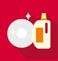 Wash up icon flat style vector