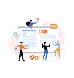 website development content concept designers vector image