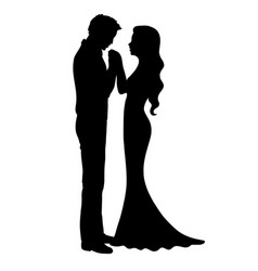 Wedding silhouette vector