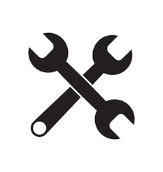 Black icon of Wrench vector image vector image