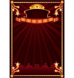 cinema announcement vector image vector image