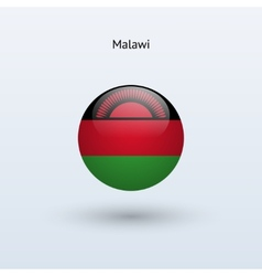 Malawi round flag vector