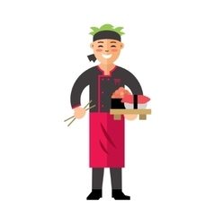 Sushi Chef Flat style colorful Cartoon vector image vector image
