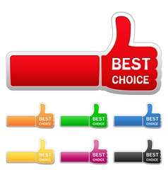 thumb up stickers vector image vector image