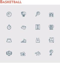 basketball icon set vector image vector image