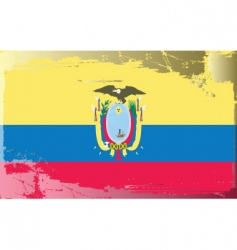 Ecuador national flag vector image vector image