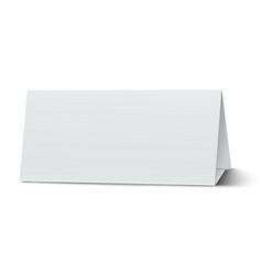 horizontal elongate oblong blank paper table card vector image