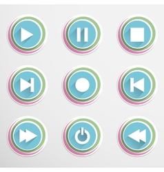 Mediaplayar buttons vector image