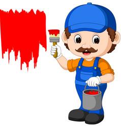 professional painter cartoon vector image vector image