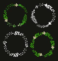 subtle floral wreath vector image
