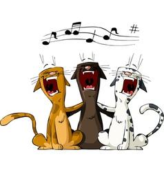 three cats vector image vector image