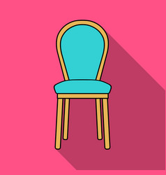 classical chair icon in flat style isolated on vector image
