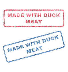 made with duck meat textile stamps vector image vector image