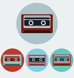 Music Tape Colorful icon set vector image