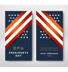 Presidents Day card vector image