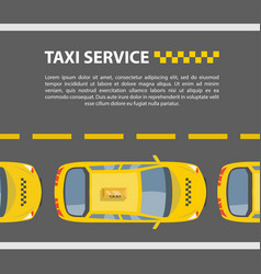 taxi service mockup vector image