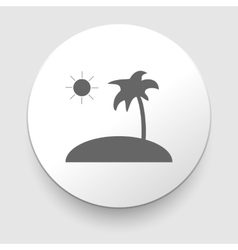 Tropical sea small island - icon isolated vector image vector image