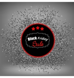 Black Friday Sticker and Confetti vector image
