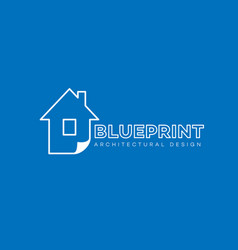 blueprint logo vector image vector image