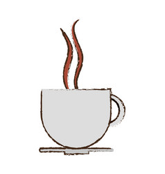 Coffee cup drink hot vector