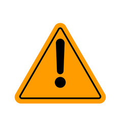 danger warning attention sign vector image