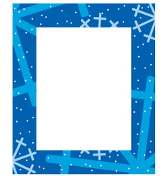 frame winter vector image vector image