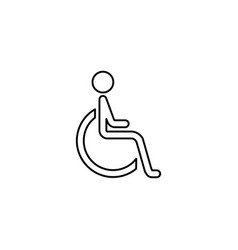 handicapped and invalid line icon vector image