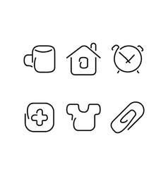 Home set icons vector image vector image