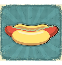 hot dogs poster retro vector image vector image