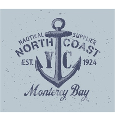 Nautical graphic vector image vector image