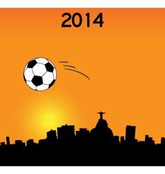 World Cup in Rio vector image