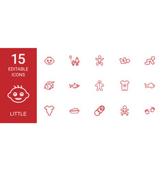 15 little icons vector image