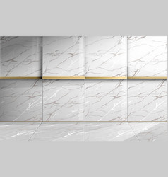 abstract square marble with golden luxury texture vector image