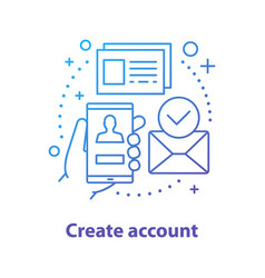 Account creating concept icon vector