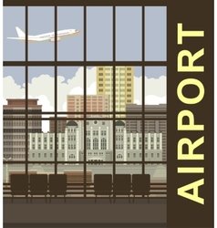 Airport views vector
