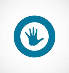 arm bold blue border circle icon vector image