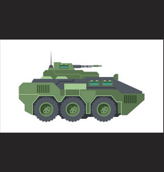 armored fighting vehicle camouflage green wheeled vector image
