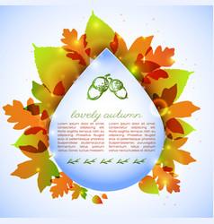 Autumn foliage design vector