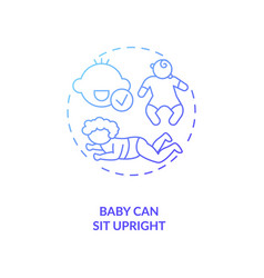 Baby can sit upright concept icon vector