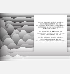 Background with paper waves and place a text for vector