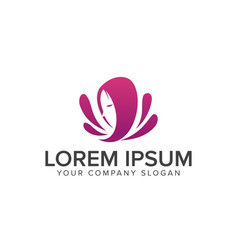 beauty woman logo cosmetics and beauty logos vector image